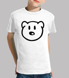 la cabeza del oso de peluche