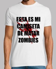 la camicia di uccidere gli zombie uomo