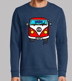 la camionnette hippie