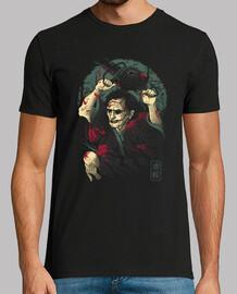 la camisa de la masacre de samurai para hombre