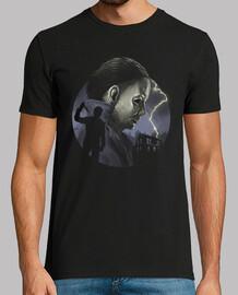 la camisa slasher en forma de hombre