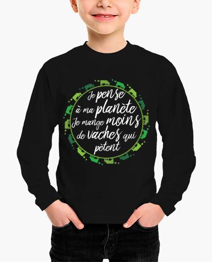 Ropa infantil la camiseta de comer mejor