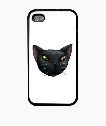 Funda iPhone la cara del gato negro iphone 4