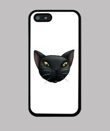 la cara del gato negro iphone 5