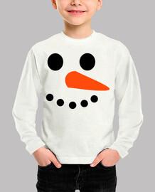 la cara del muñeco de nieve