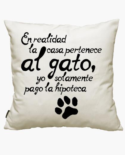 Fodera cuscino la casa è il gatto