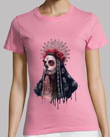 la catrina - t-shirt donna scheletro bambina