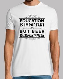 la cerveza-educación es importante pero la cerveza es