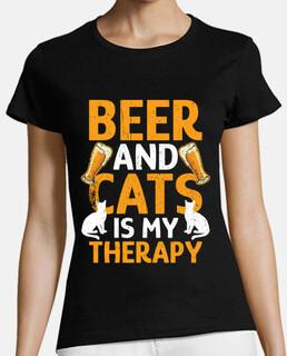 la cerveza y los gatos son mi terapia