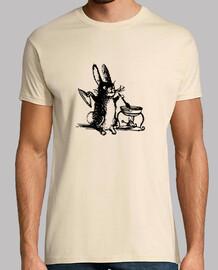 la cottura del coniglio