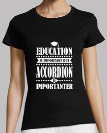 la educación es importante, pero el acordeón