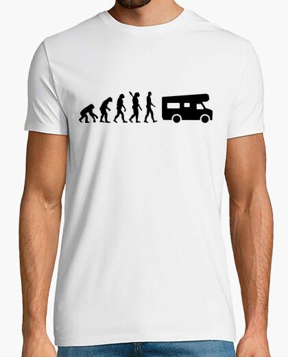 Camiseta la evolución de caravanas de camping