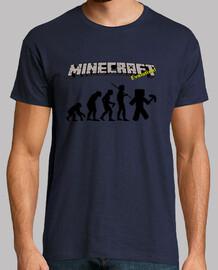 La evolución de Minecraft - Azul Marino