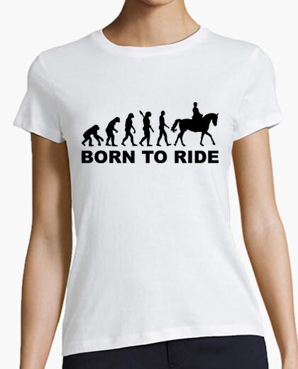 Camiseta la evolución llevado para montar