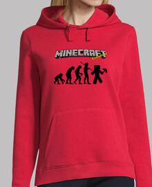 La evolución Minecraft - Chica