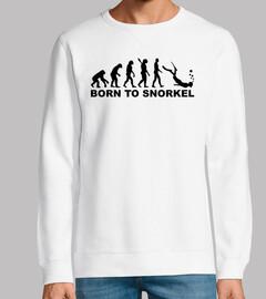 la evolución nace para hacer snorkel