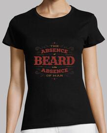 la falta de barba mujer camiseta