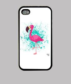 la flaminga blanco - cubierta iphone 4 / 4s