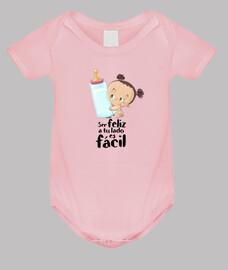 la formule de bébé fille être heureux - corps