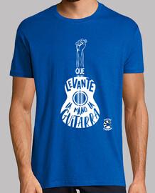 La Gaditanissima Guitarra Blanco Camiseta Hombre