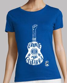 La Gaditanissima Guitarra Blanco Camiseta Mujer
