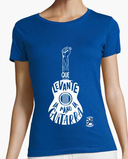 Tee-shirt la gaditanissima t-shirt guitare blanc femme