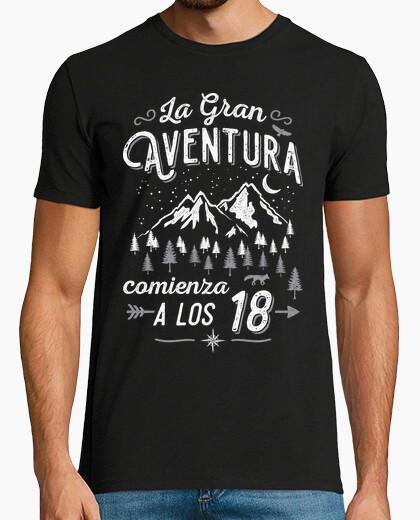 Camiseta La Gran Aventura comienza a los 18