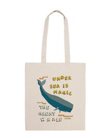 la gran ballena | bolso de mano