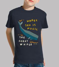 la gran ballena | niños de manga corta