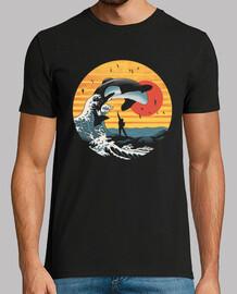 la gran camisa de ballena asesina para hombre