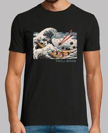 la gran camisa de sushi para hombre