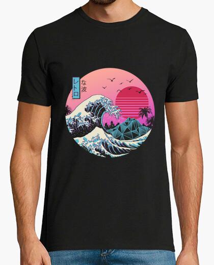 Camiseta la gran camisa retro de onda menx