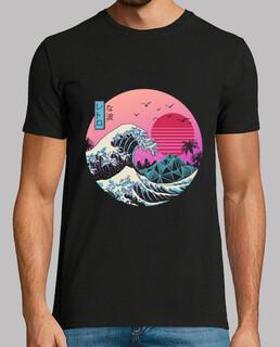 la gran camisa retro de onda menx