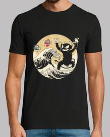 la gran camiseta de batalla retro juego para hombre