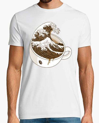 Camiseta la gran ola de café