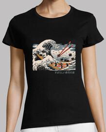 la grande chemise de sushi wave womens