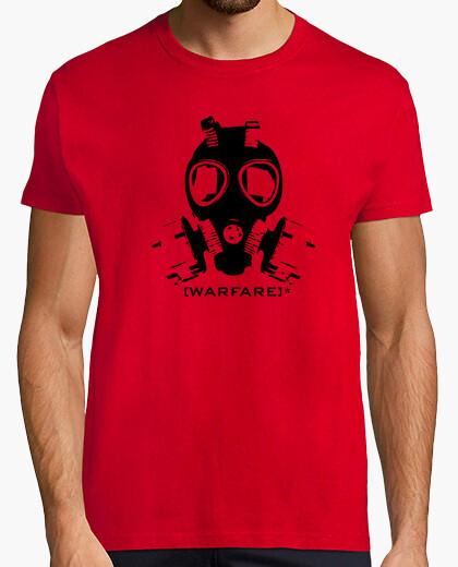Tee-shirt la guerre noir / rouge, guerre, appel, devoir, moder