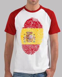 La Huella de España estilo béisbol, blanca y roja