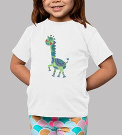 la jirafa verde