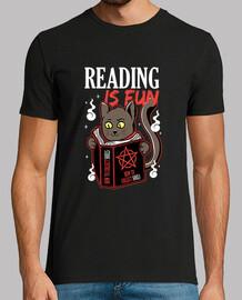 la lecture est amusant kitty magie noire et noir pour les amateurs de les chats et les livres