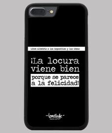 La locura viene bien - Funda iPhone 7/8 PLUS, negra