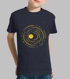 la luna y las estrellas sueñan los niños camiseta