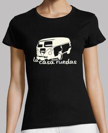 la maison de  tee shirt   femme  avec roues noires