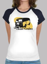 la maison de baseball t-shirt  femme  avec roues