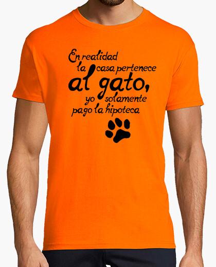 Tee-shirt la maison est chat