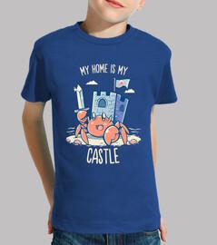 la mia casa è il mio castello - camicia per bambini