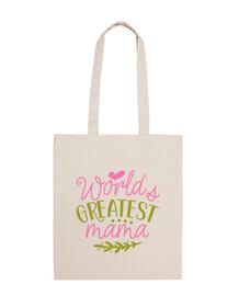 la migliore borsa in tela mamma del mondo