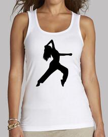 la muchacha de baile de estilo libre