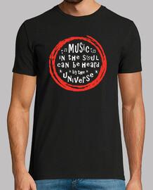la música en el alma es escuchada por el universo