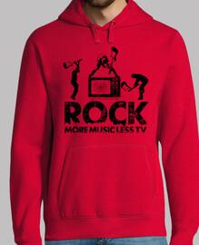 la musica rock più meno la tv